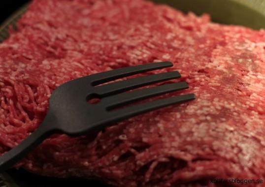 Köttfärs med köttfärsgaffel