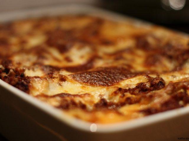 Lasagne med bechamelsås i världsklass