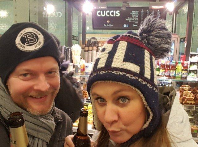 Berlin, öl i tunnelbanan