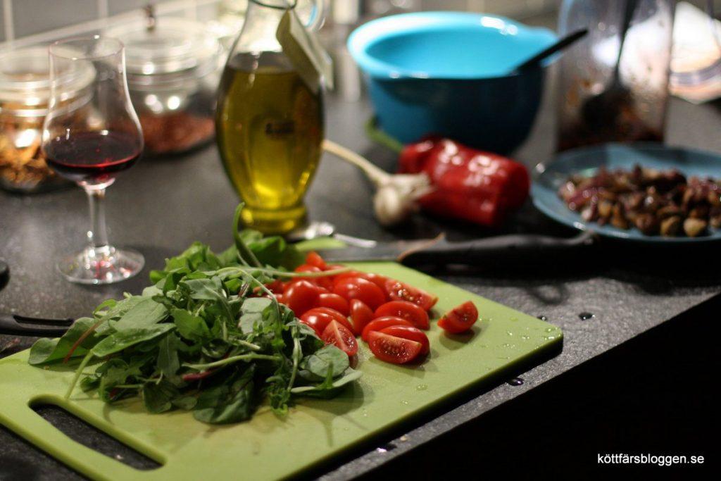 Tomat och diverse sallad