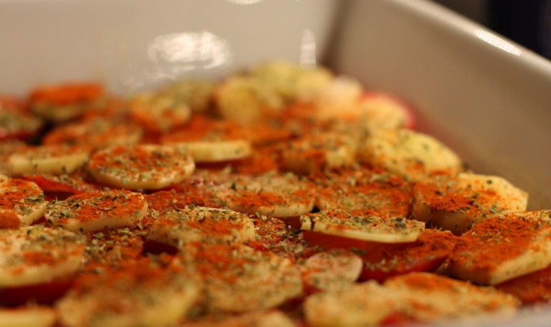 Moussaka utan auberginer och med zucchini