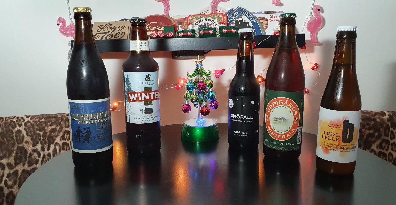 Julöl, vi testar fem olika, julen 2019